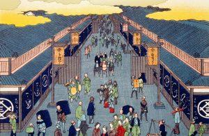 高利貸と当時の人々との風景をイメージ