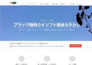 ブラック融資OKソフト闇金カネカシのホームページ画像