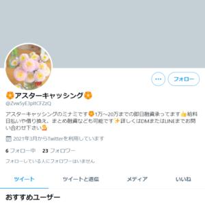 アスターキャッシングTwitter